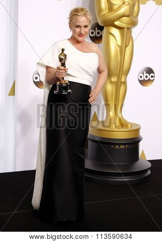 Patricia Arquette at the 87th Annual Academy Awards - Press Room held at the Loews Hollywood Hotel in Los Angeles, USA February 22, 2015.