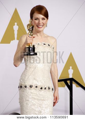Julianne Moore at the 87th Annual Academy Awards - Press Room held at the Loews Hollywood Hotel in Los Angeles, USA February 22, 2015.