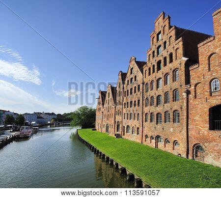 The Salzspeicher (salt Storehouses), Lubeck, Germany.