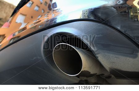 Close-up Look Of Exhaust Pipe
