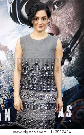 Archie Panjabi at the Los Angeles premiere of
