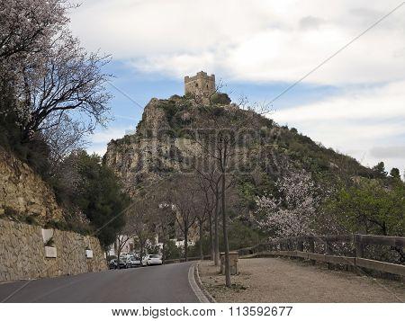 Zahara De La Sierra Castle Over Rocks