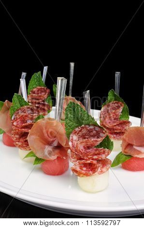 Canape Gammon And Salami