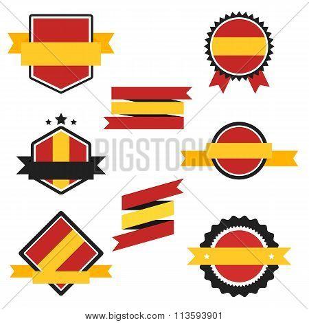 World Flags Series. Vector Flag of Spain.