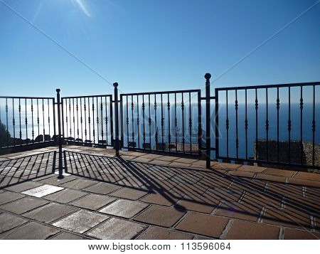 Steel Railing At The Terrace By The Sea