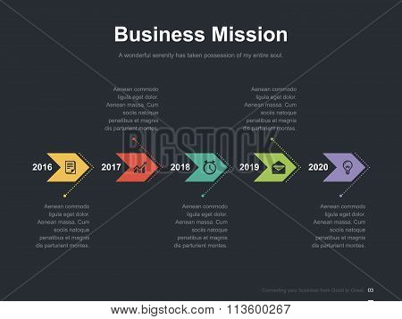 Business vector infographic slide template 0010
