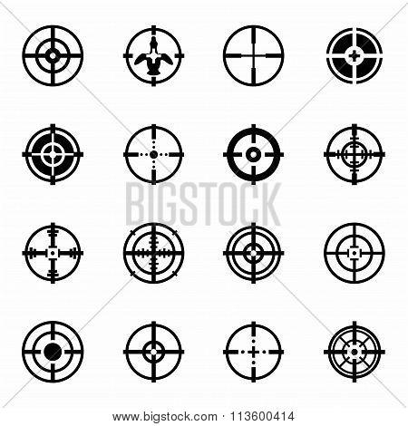 Vector Crosshair icon set