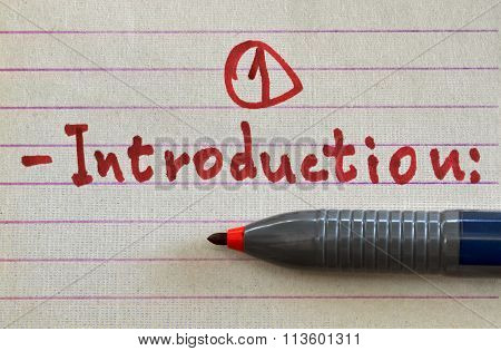 Word Introduction In Red