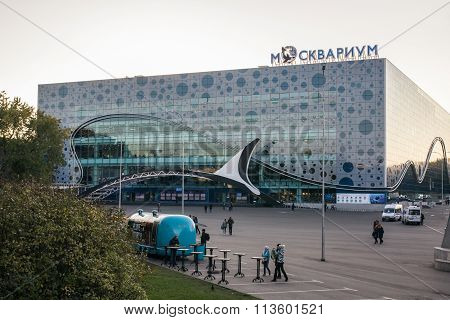 MOSCOW, RUSSIA - OCTOBER 13: General view of the building Moskvarium