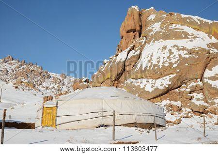 Nomadic Yurt in Terelj National Park. Mongolia