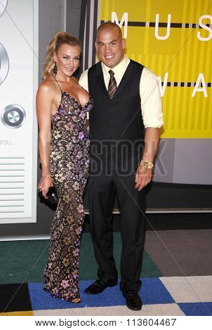 Amber Nichole Miller and Tito Ortiz at the 2015 MTV Video Music Awards held at the Microsoft Theatre in Los Angeles, USA on August 30, 2015.