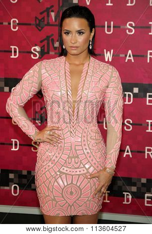 Demi Lovato at the 2015 MTV Video Music Awards held at the Microsoft Theatre in Los Angeles, USA on August 30, 2015.