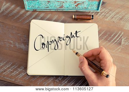 Motivational Concept With Handwritten Text Copyright