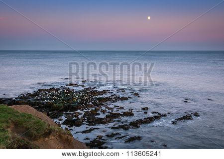 Moon Above The North Sea