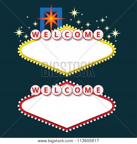 Welcome Sign Design Elements