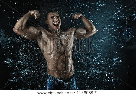 Man Screams When He Was Grist.