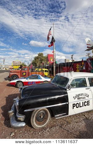 SELIGMAN - SEPTEMBER 25: The Historic Seligman Sundries on September 25 2012 in Seligman Arizona.