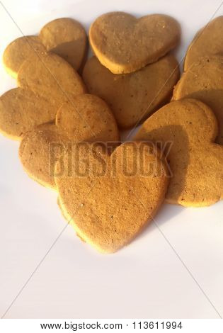 Valentine Day. Fresh baked hearts