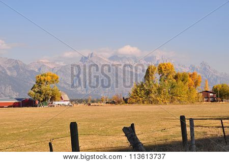 Farming near Grand Teton