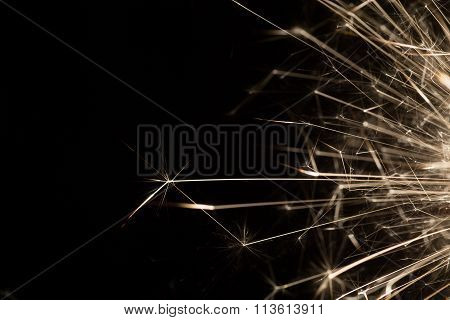 Christmas Celebration Sparkler Black Background