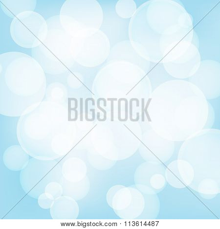 Abstract Light Blue Background With Light Effects