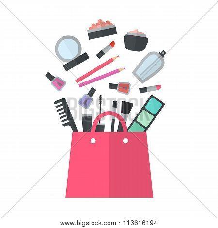 Make up concept vector flat illustration