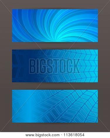 Set Of Horizontal Banner Header Website7