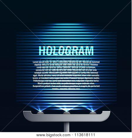 futuristic blue glowing hologram background