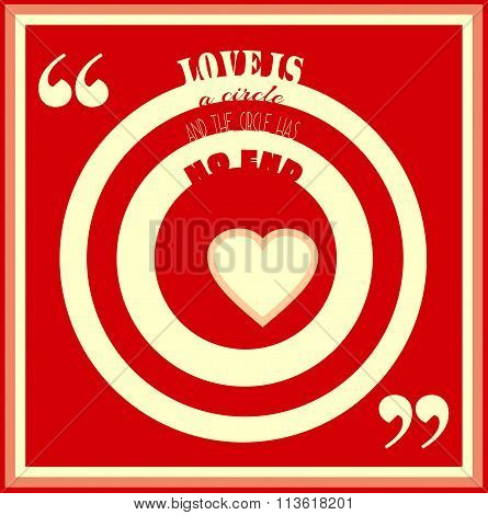 Love Is Circle And The Circles Has No End Quote