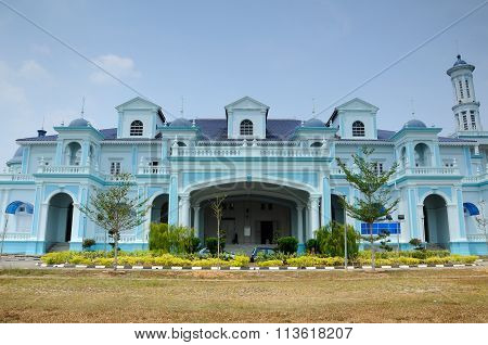 The Sultan Ismail Mosque in Muar, Johor, Malaysia
