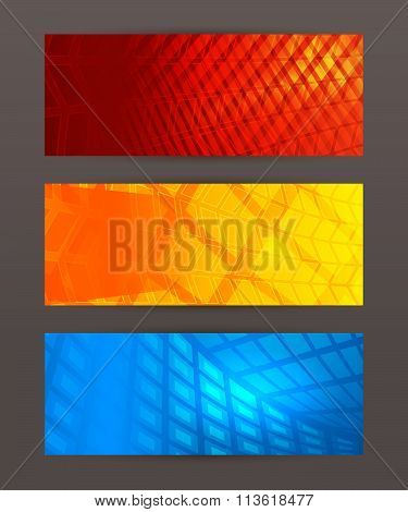 Set Of Horizontal Banner Header Website8