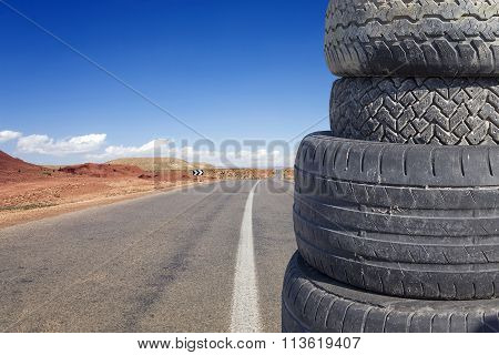tires piled