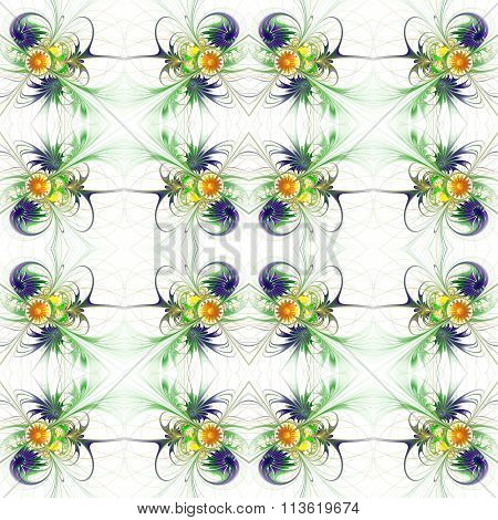 Flower Background In Fractal Design. You Can Use It For Invitations, Notebook Covers, Phone Case, Po