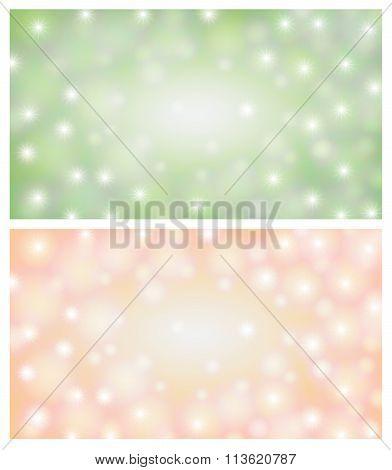Space Background Illustration Light Green