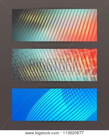 Set Of Horizontal Banner Header Website15