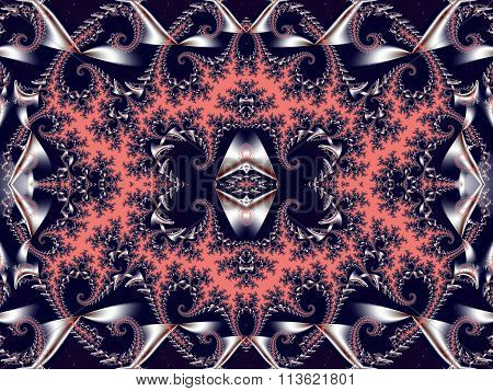 Fabulous Background. Satin Pattern With Spirals.