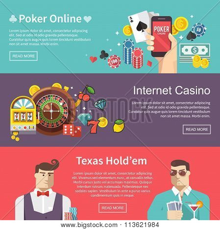 poker vector web banner