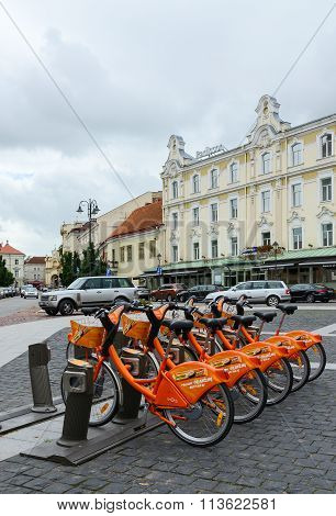 Terminal Automatic Bicycle Rental Cyclocity In Old Town, Vilnius