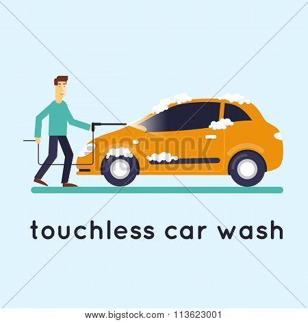 Contact less car wash.