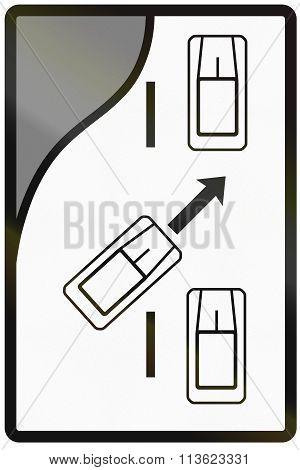 Road Sign Used In Slovakia - Merge Ahead