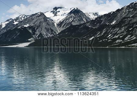 Alaska mountain landscape. Glacier Bay National Park, Alaska