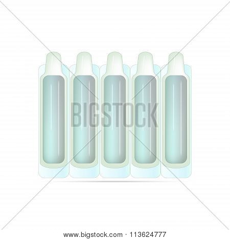Plastic Ampoule For Medicine Or Vaccine