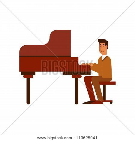 Jazz man playing the piano