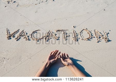 Summer Vacation At The Beach Concept