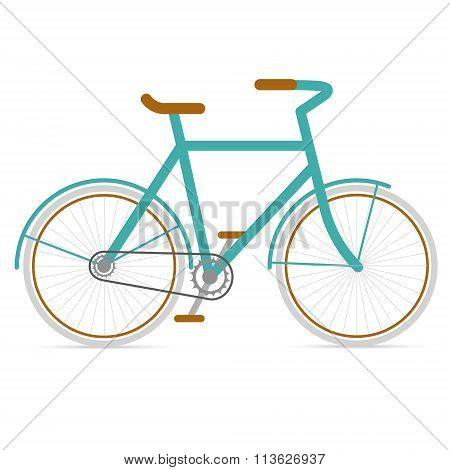 Bicycle Hipster In Flat Style