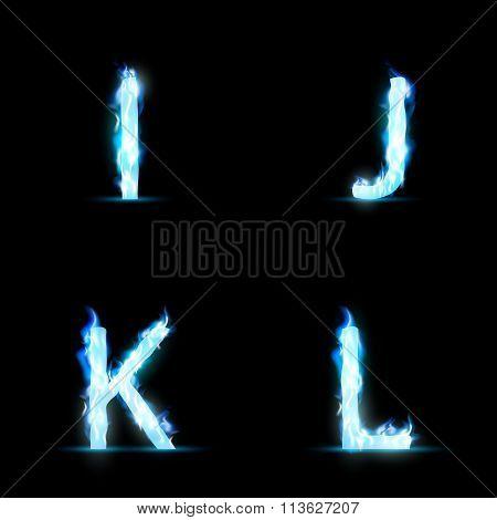 Set Of Letters I-L