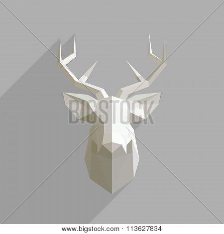 Polygonal Head Of Deer