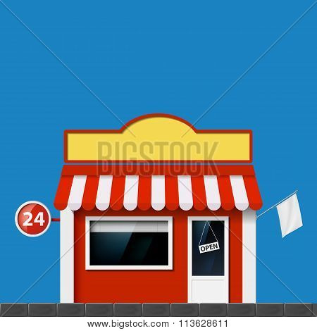 Shop Window. Stock Illustration.