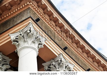 A fragment of the building in the classicism style