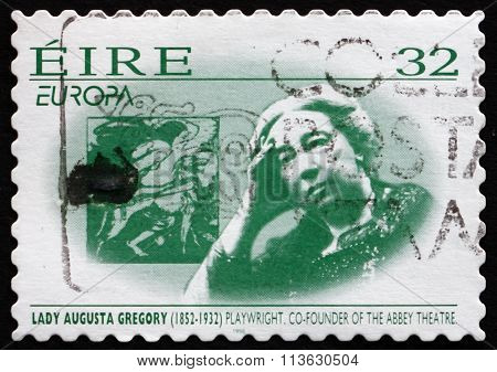 Postage Stamp Ireland 1996 Lady Augusta Gregory, Playwright